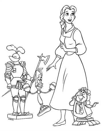 malvorlagen die schone und das biest - kinder zeichnen und ausmalen