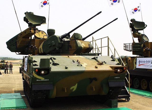 Brazos agencia de compras de Corea del Sur anunció Viernes, 27 de diciembre 2013, que completó el desarrollo de un vehículo polivalente defensa aérea Bi-Ho con misiles guiados basados en la tecnología indígena. Este sistema de defensa antiaéreo autopropulsado, Bi Ho proporciona final y de cerca en la defensa aérea contra aviones a baja altura y helicópteros.