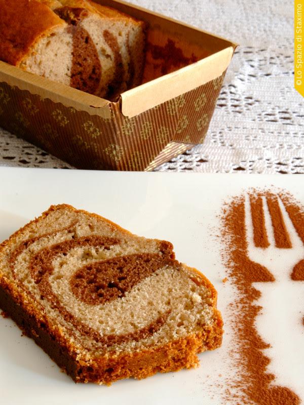 Cake Variegato Cacao e Castagne