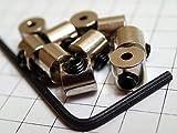 ピンバッジの留め具◆しっかり留まるネジ式キャッチ10個セット