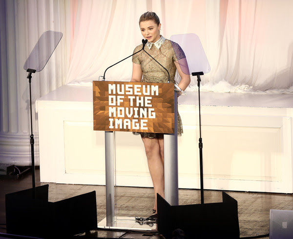 Chloe Grace Moretz Chloe Grace Moretz speaks onstage at the Museum of The Moving Image honors Julianne Moore at 583 Park Avenue on January 20, 2015 in New York City.
