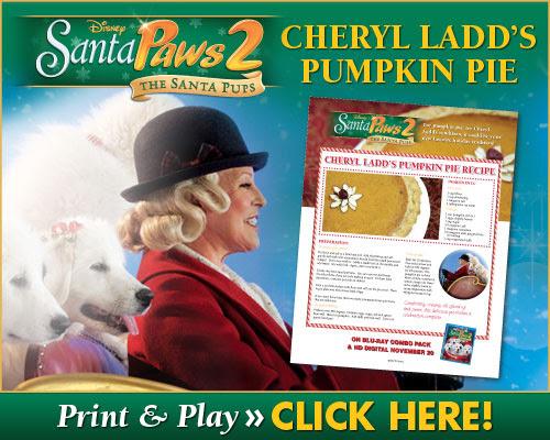 download Cheryl Ladd's Pumpkin Pie Recipe!