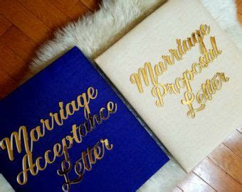 Marriage Proposal AND Marriage Acceptance Letter   Edit
