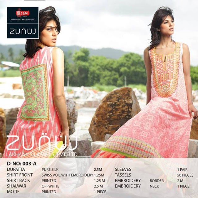 Beautiful-Cute-Girls-Models-Wear-Summer-Eid-Dress-Collection-2013-Lakhani-Silk-Mills-22
