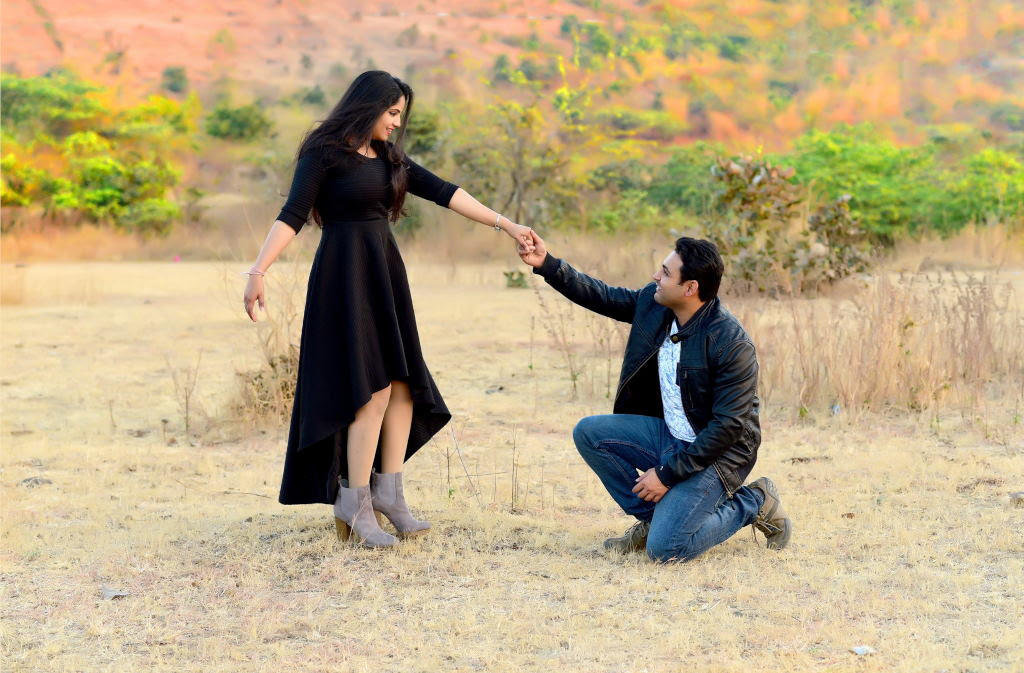 Romantic Engagement Poses For Indian Couples