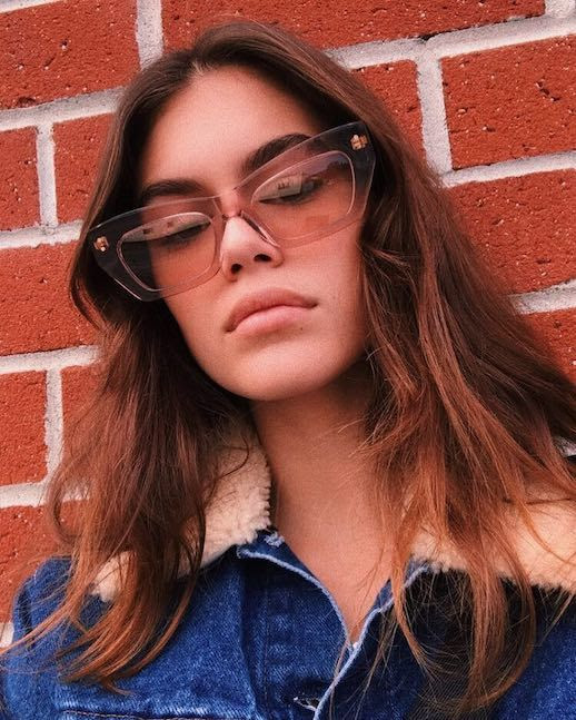 Le Fashion Blog Kaia Gerber 12 Pairs Of Clear Frame Sunglasses Shop Trend See Through Sunglasses Plastic Acetate Via @Kaiagerber