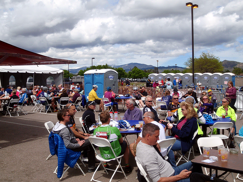 The beer garden at the Santa Fe Century staging area.
