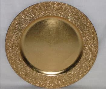 Fancy Gold Plastic Charger Plate Cheap   Buy Wedding