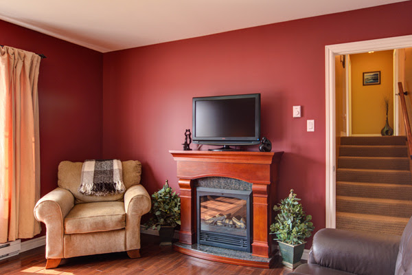 Living Rooms Painted Red - Home Decoration Ideas