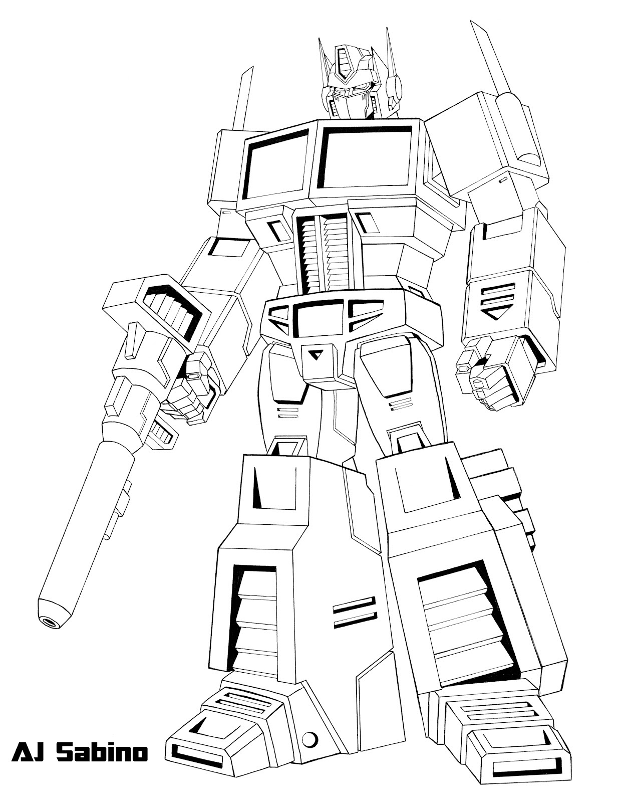 Transformer Optimus Prime Drawing At Getdrawingscom Free For