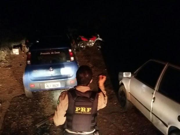 Carro (Foto: Polícia Rodoviária Federal/ Divulgação)