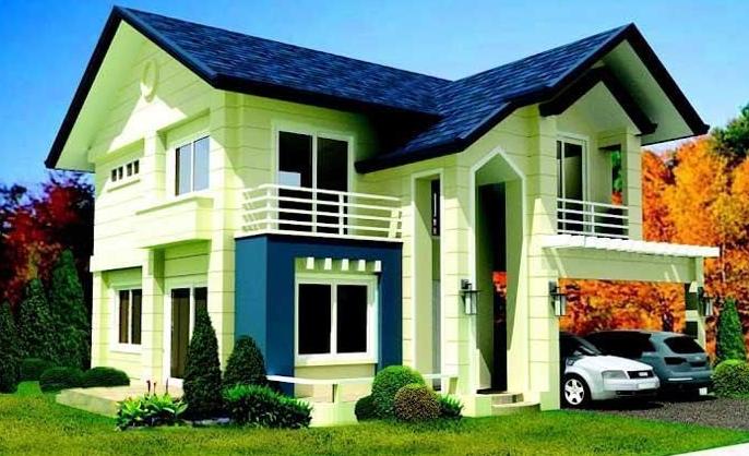 21+ Foto Rumah Minimalis Warna Biru, Motif Cemerlang!