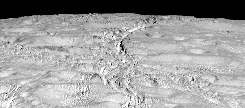 Nuevas fotos de Encélado muestran una extensa red de grietas en la luna de Saturno