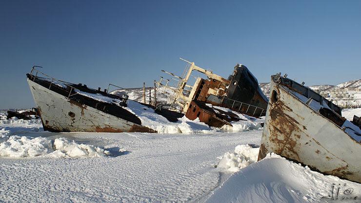 abandoned ships in  kamchatka, Russia 3