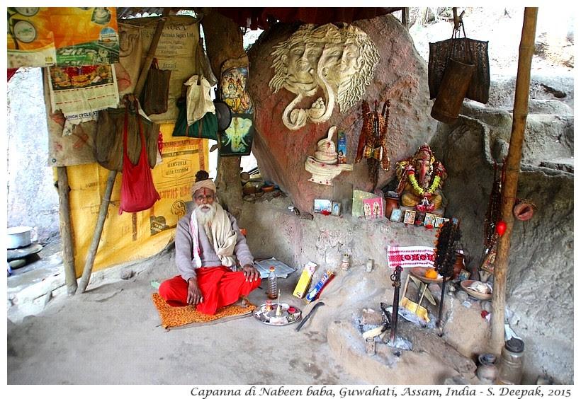 La capanna di Nabeen baba, Assam India - Images by Sunil Deepak