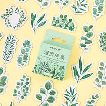 Kawaii Green Leaves Stickers Cute Plants Decorative  For Kids