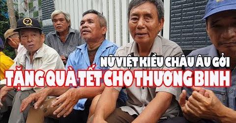 Việt Kiều Châu Âu gởi 30 phần quà giúp thương binh và người khuyết tật ở Sài Gòn
