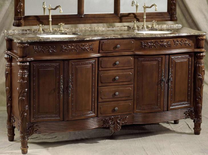73 inch Christy Vanity | Double Bathroom Vanity Cabinets