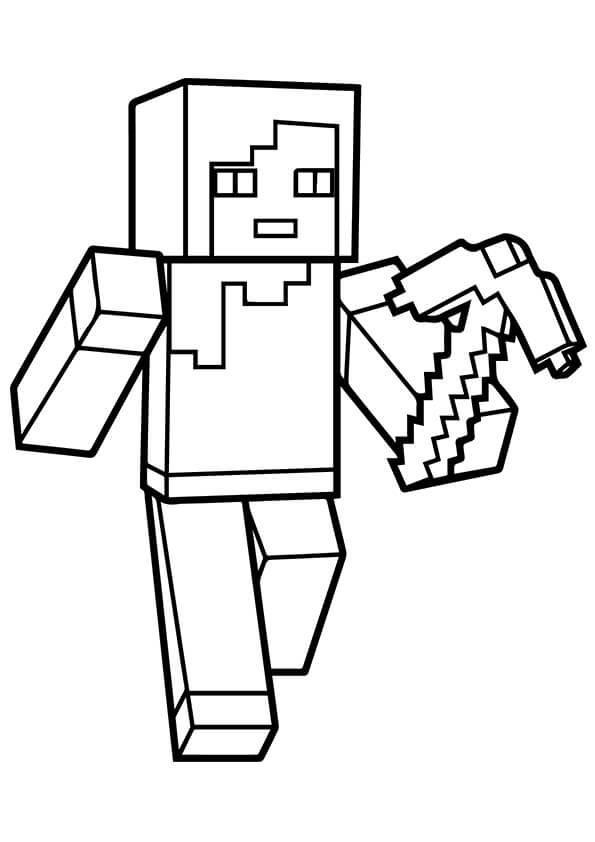 Minecraft Logo Minecraft Coloring Pages For Kids - Drawing With Crayons
