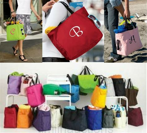 7 Cheap Personalized Monogrammed Tote Bags Bridesmaid Gift