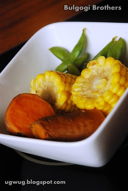 Starters - Sweet Corn, Sweet Potatoes, Sugar Snap Peas
