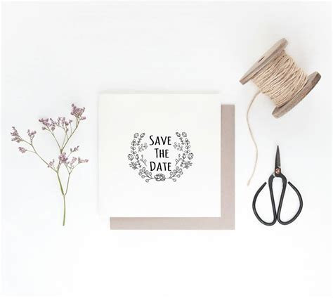 ?save the date? cactus design wedding stamp by ink & ocean