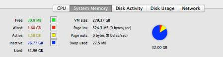 activity monitor 32gb installed