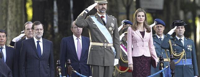 Los Príncipes presiden el desfile