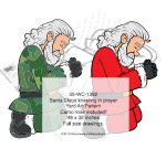 Santa Claus kneeling in prayer Yard Art Woodworking Pattern - fee plans from WoodworkersWorkshop® Online Store - Santa Claus,praying,prayer,kneeling,on bended knee,yard art,painting wood crafts,scrollsawing patterns,drawings,plywood,plywoodworking plans,woodworkers projects,workshop blueprints