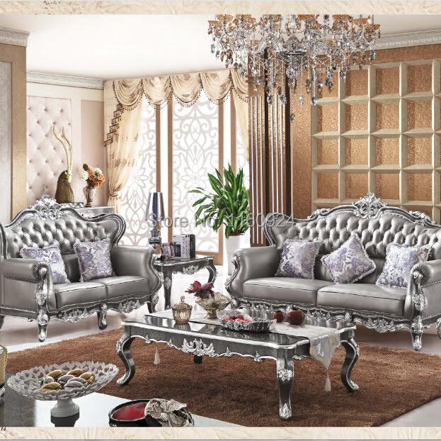 Luxury Silver Grey Oak European Style Living Room ...