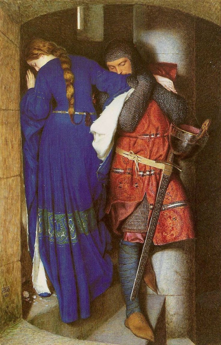 Frederick William Burton - The Meeting on Turret Stairs