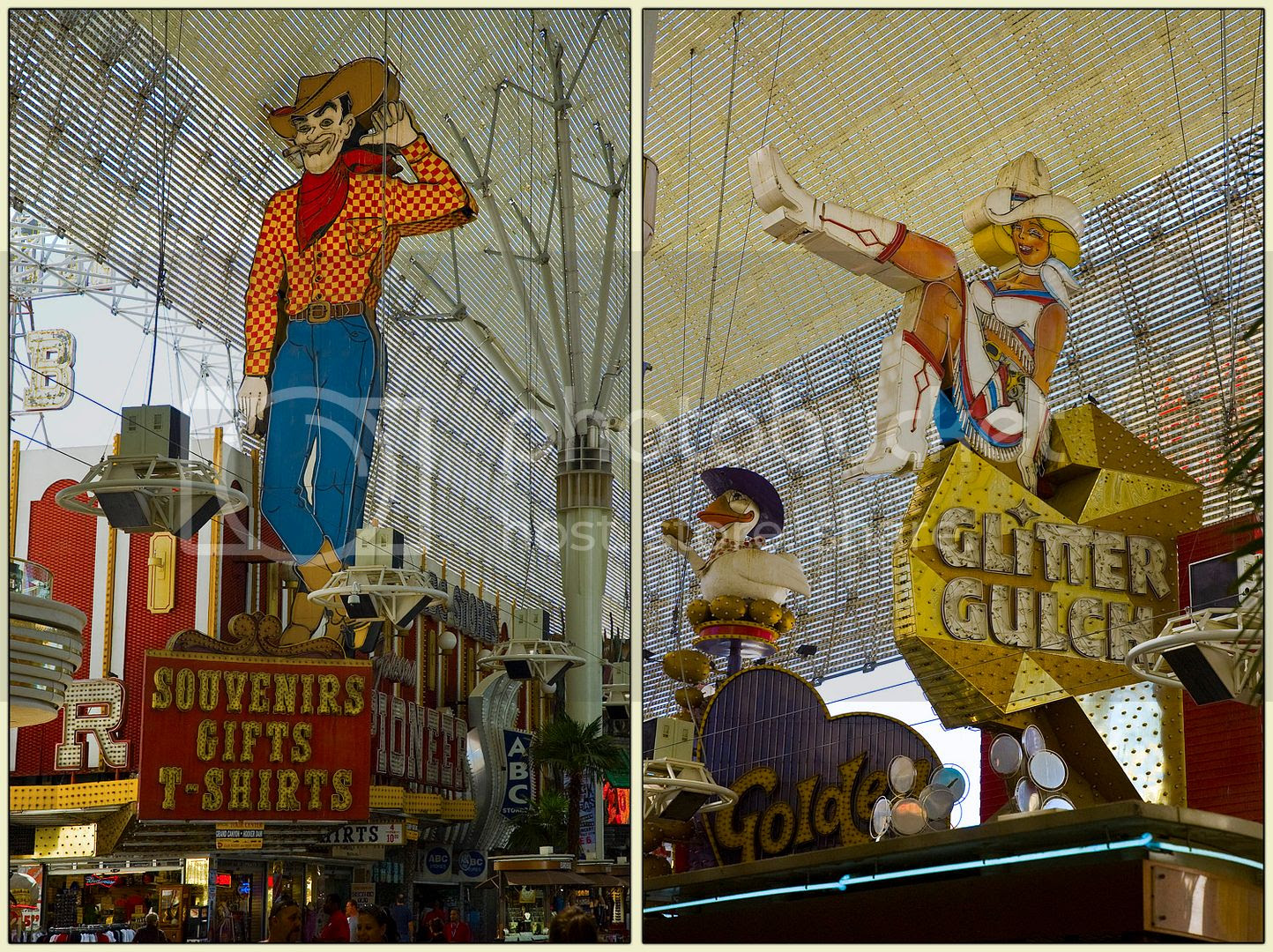 Fremont Street Cowboy and Cowgirl