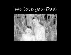 We Love You Dad Photo Frame Athena Posters