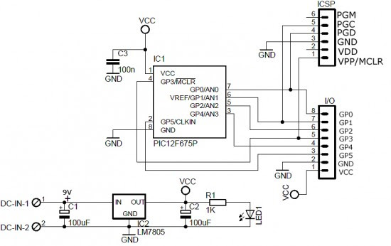 pic development board circuit