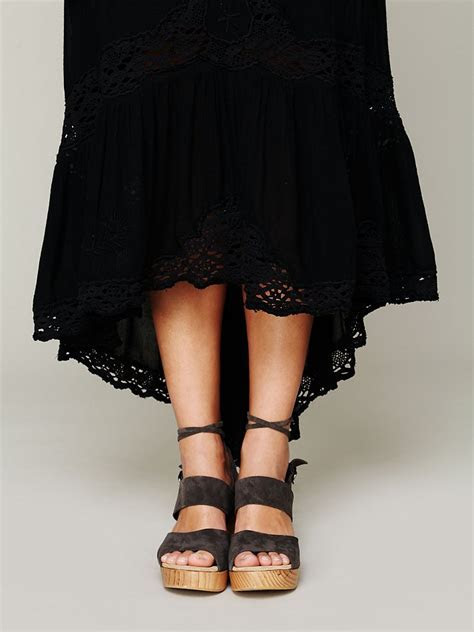 Lyst   Free People Mexican Wedding Dress in Black