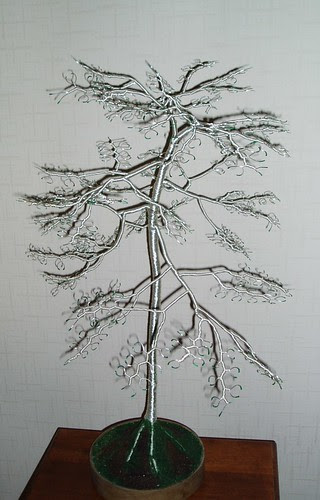 Bespoke Wire Sculpture Tree by Dave Austin by JewellerybyShalini