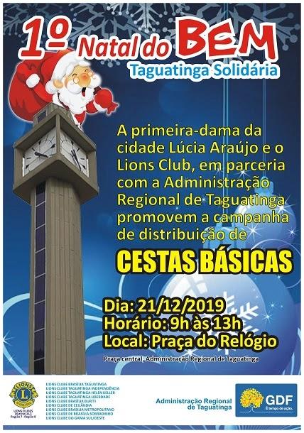 Projeto 1º Natal do BEM faz doações a famílias carentes de Taguatinga