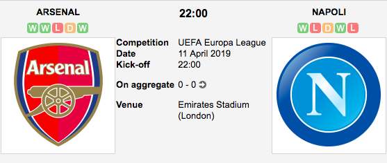 Arsenal v. Napoli - Europa League Preview