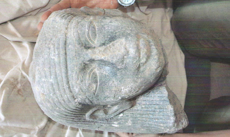 New Kingdom granite head uncovered in Luxor, Egypt. The military regime says its will heighten security near antiquity sites. by Pan-African News Wire File Photos