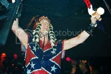 Ted Nugent, Confederate gunman, at Texas Governor Rick Perry's inauguration