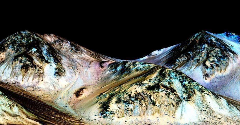 Corrientes de agua líquida en Marte