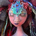 Detail of finished mermaid head