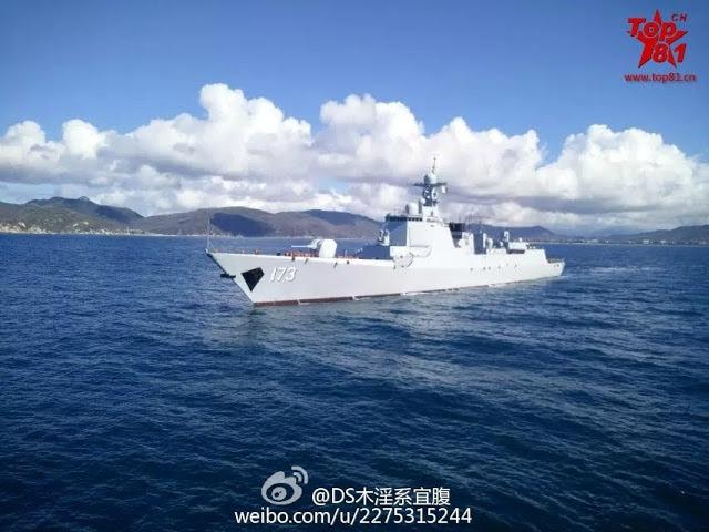 Nuevas fotos de Tipo 052D destructor 173 Changsha 2