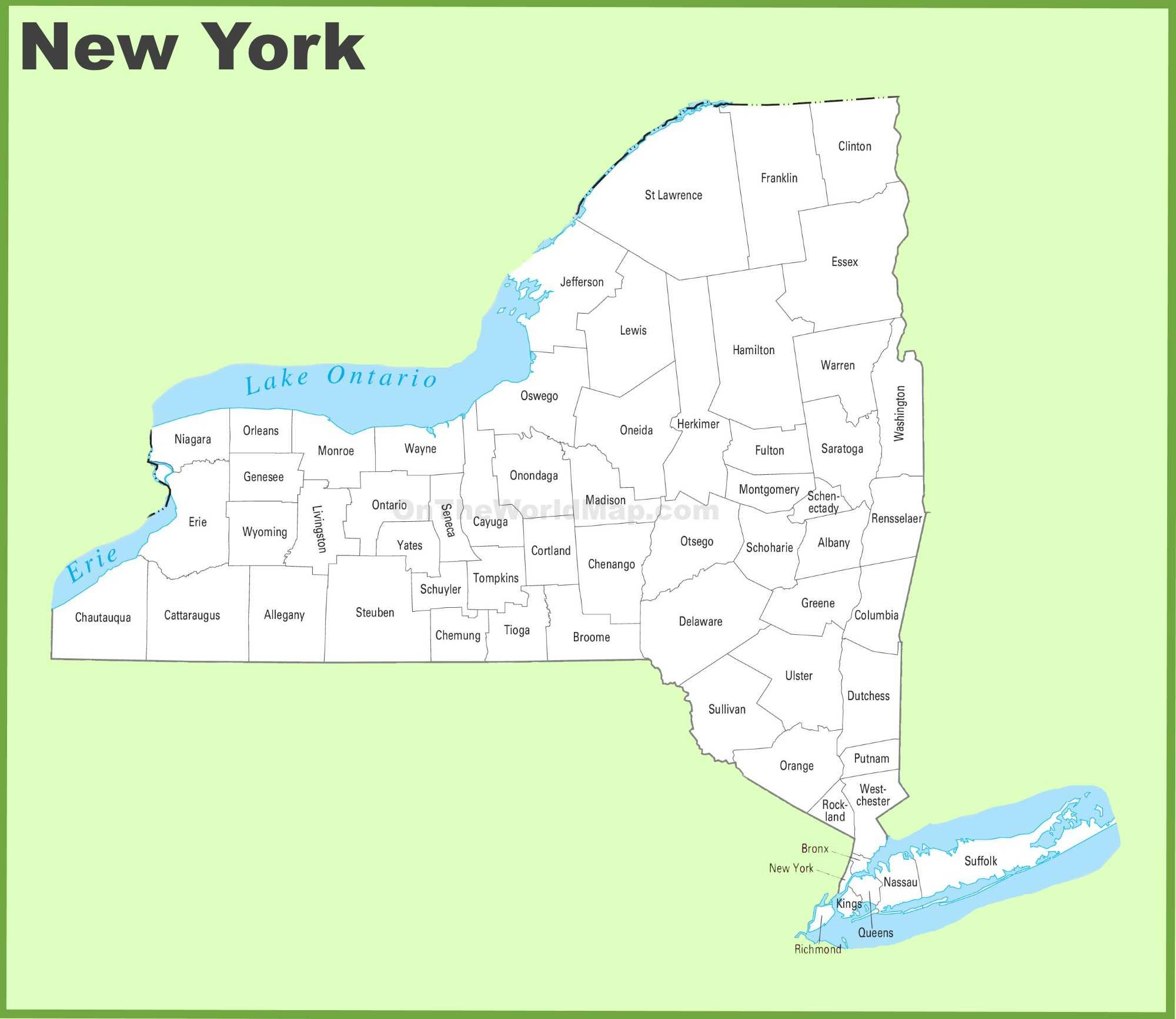 Map Of New York State Map Of Usa United States Maps