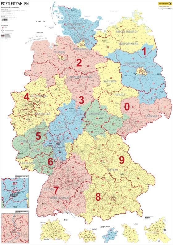 Digitale Plz Karte Deutschland Kostenlos.25 Beste Postleitzahlengebiete Deutschland Karte