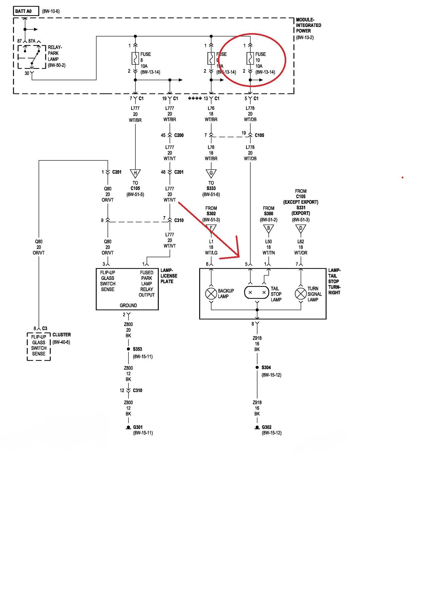 1996 Jeep Cherokee Tail Light Wiring Diagram - Wiring Diagram