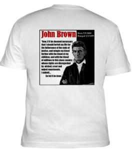 Back of John Brown T-shirt