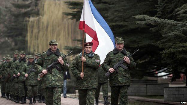 """亲俄罗斯的""""新克里米亚军"""""""