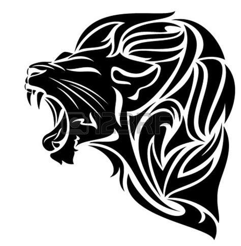 lion clipart black  white clipart panda