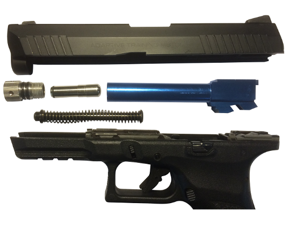 Recoil Enabled Airsoft Laser R E A L Conversion Kit For Kwa Atp Anytime Ammo